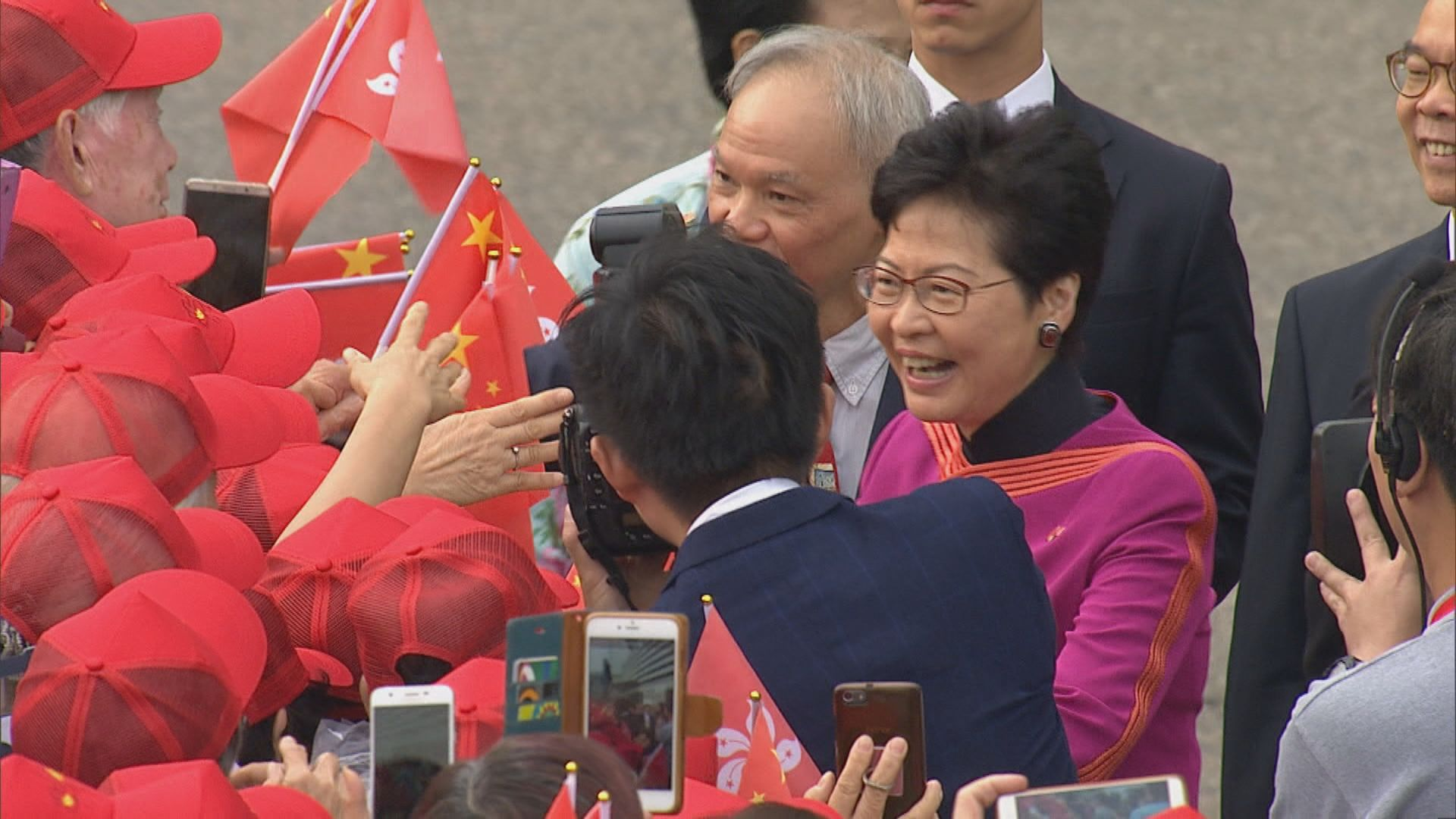 國慶69周年 金紫荊廣場舉行升旗儀式