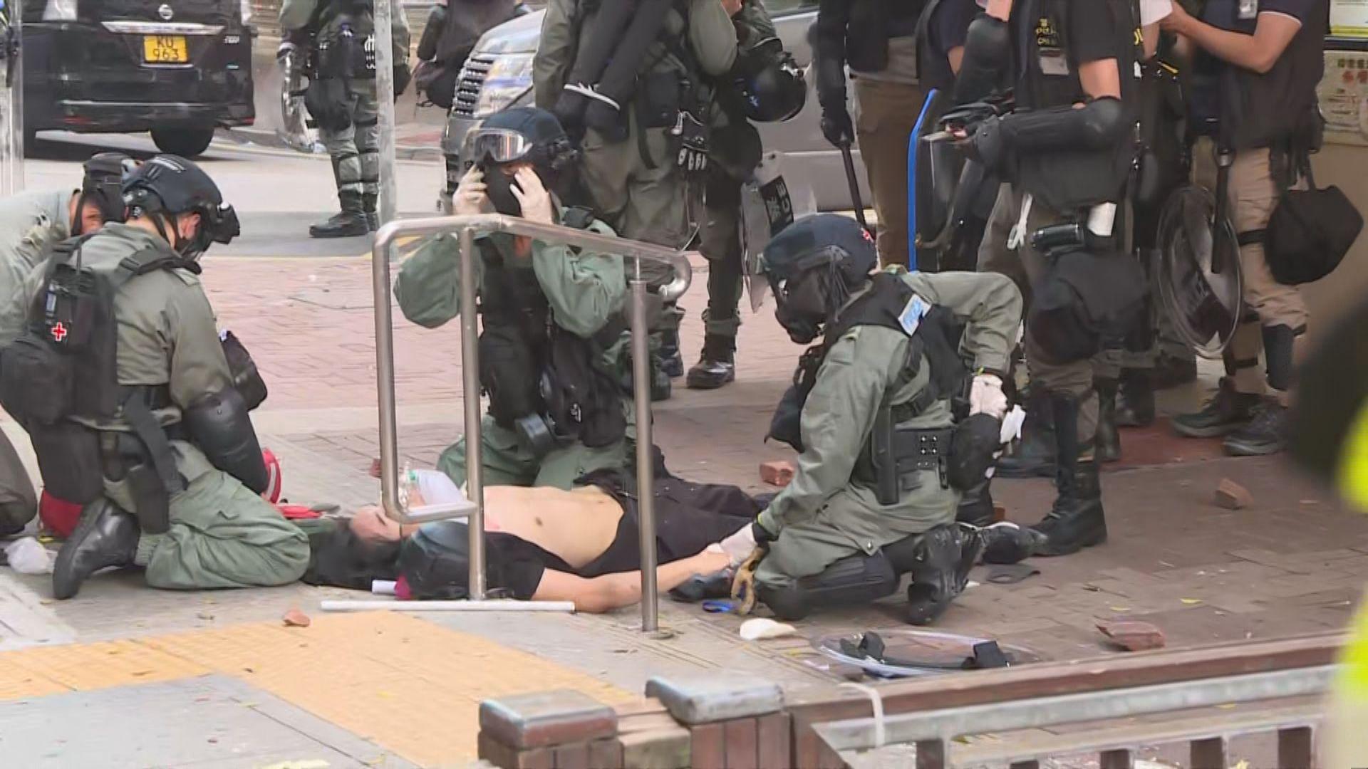 荃灣中槍示威者為中五學生 送院時清醒