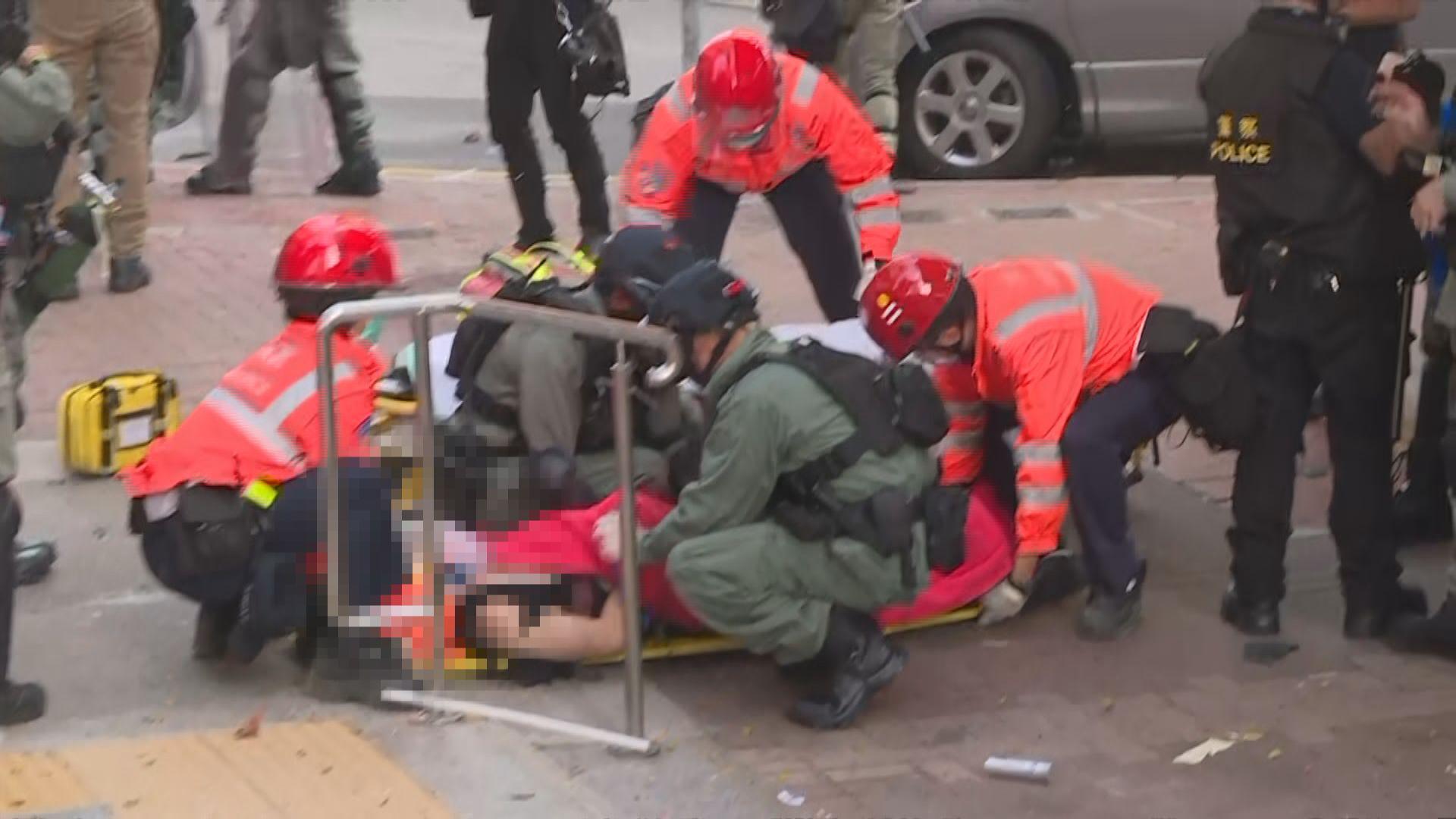 十一多區衝突暫有104人傷 其中兩人危殆