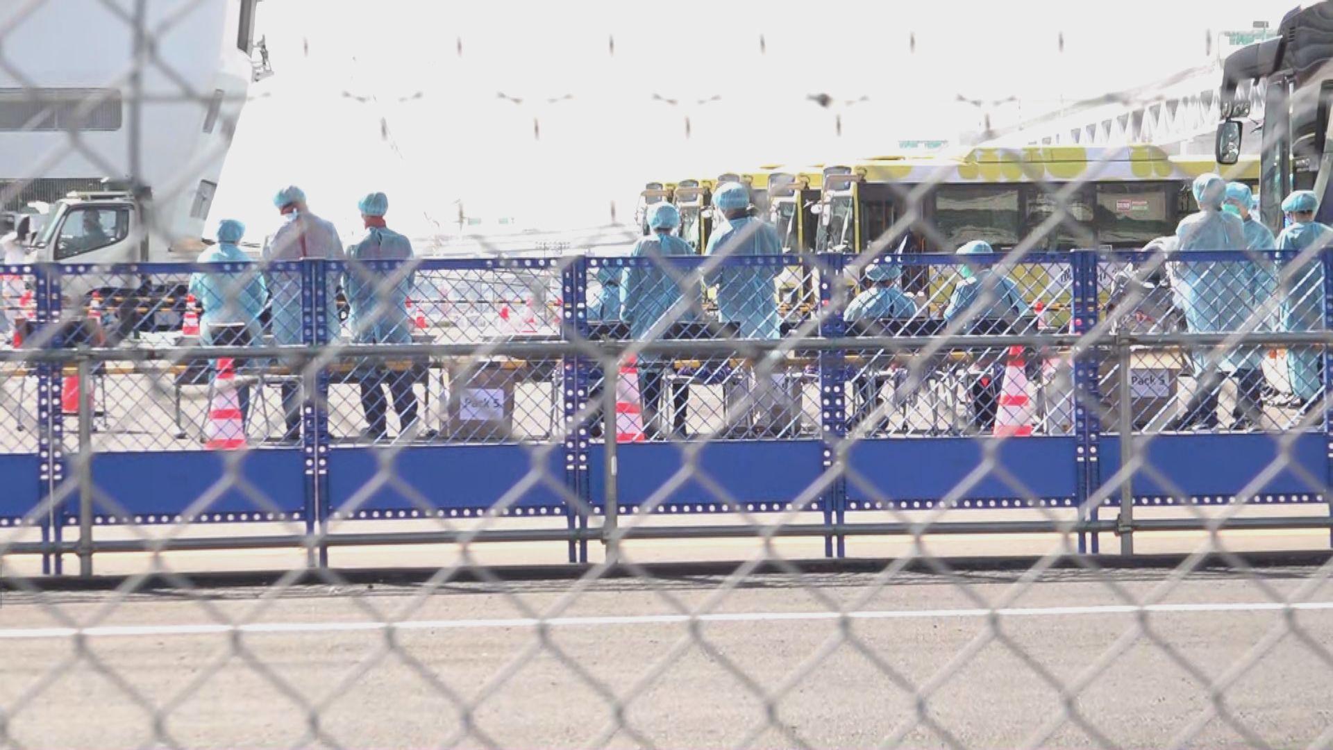 【現場報道】鑽石公主號港人已下船準備乘坐第二班包機回港