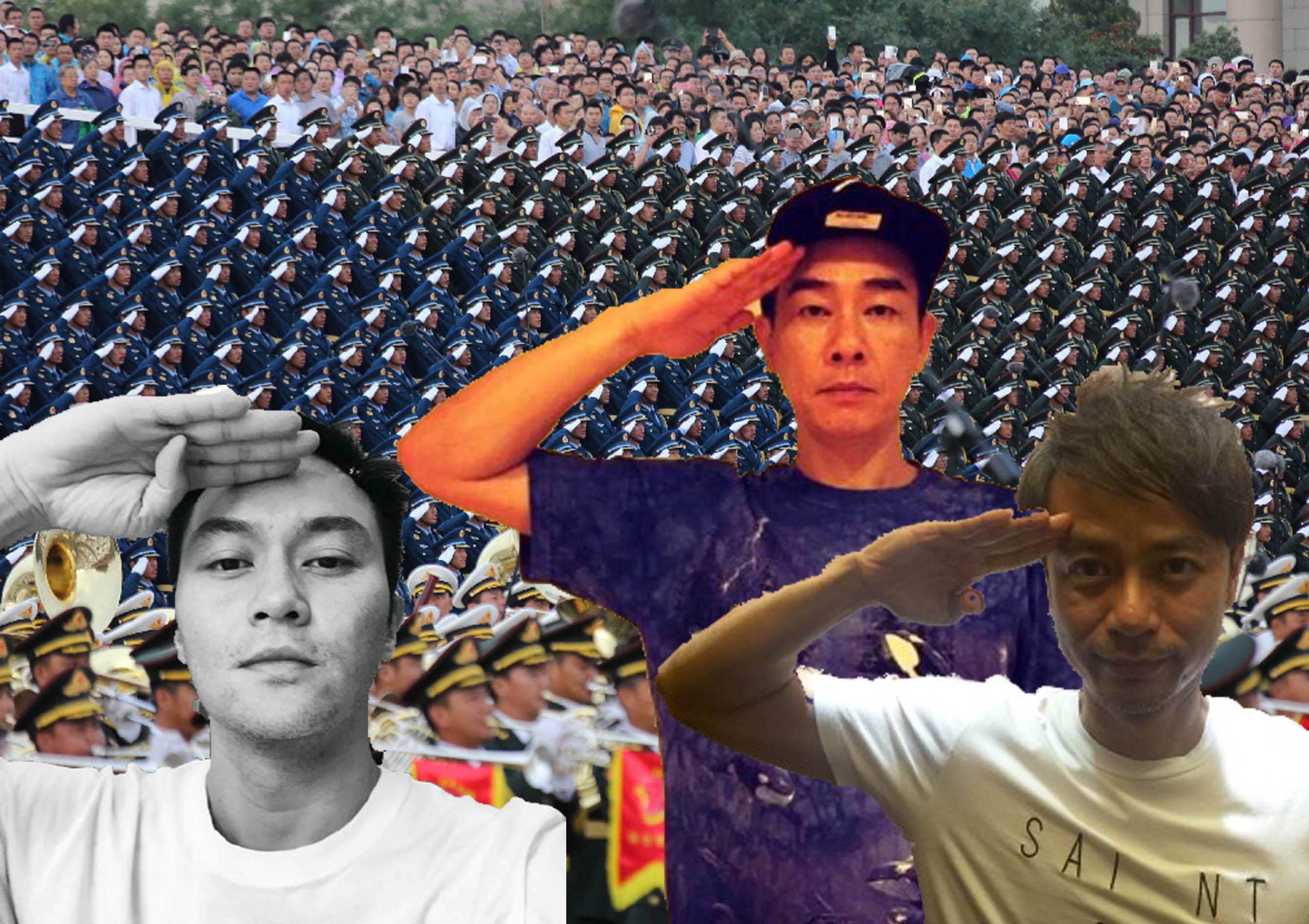 中共閱兵激發愛國種子 盤點愛國香港藝人