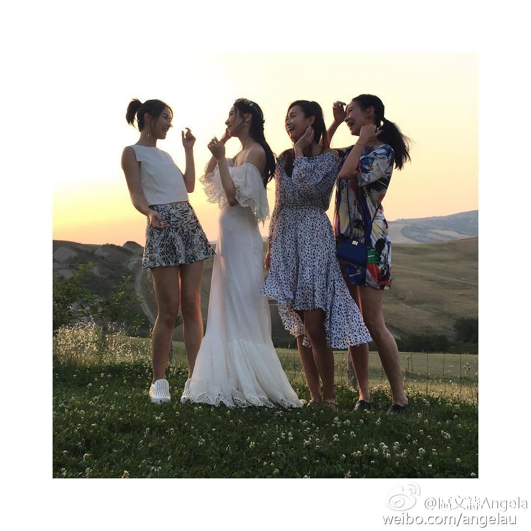 Kary結婚都冇Theresa份。(微博圖片)