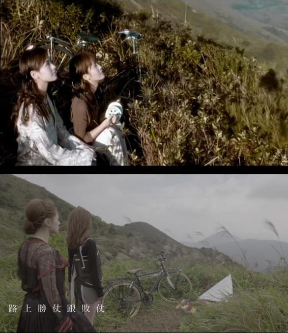 唔少fans都會記得《風箏與風》的山丘,經過這些年,Twins成熟了不少。(上圖《風箏與風》MV,上圖《虛齡時代》MV)