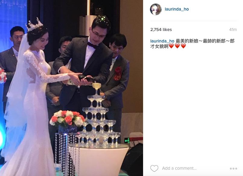 超蓮IG直擊李蘊婚禮現場,仲話一對新人靚仔靚女。(instagram截圖)