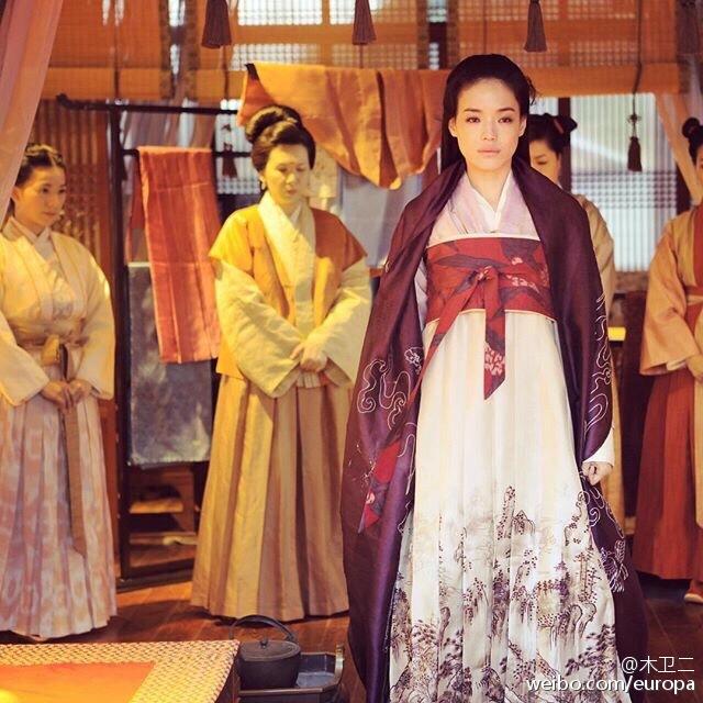 電影《聶隱娘》在《第十屆亞洲電影大獎》中獲9項提名,舒淇更有份入圍力爭影后寶座。(微博圖片)