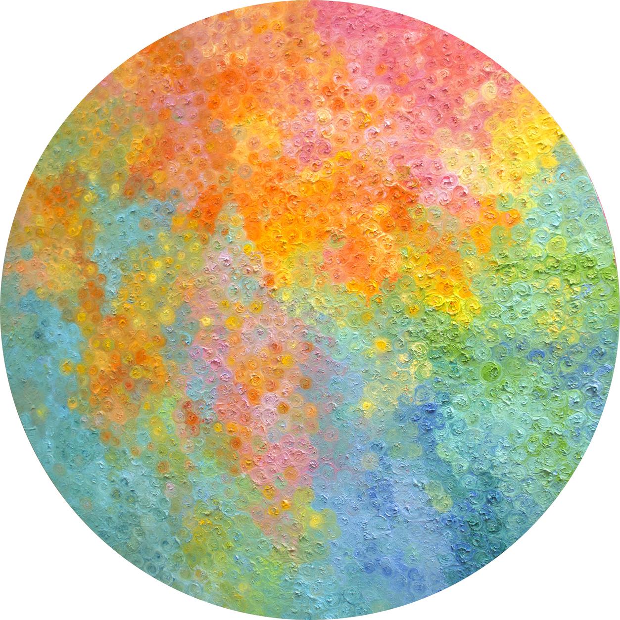 今次展覽更有不少本地藝術家參展,BLINK Gallery的T.K. Chan就帶來油畫系列「Aurora Revelation」,希望大家關注全球暖化問題。