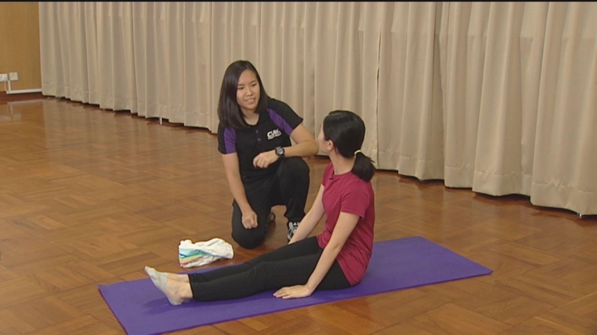 【杏林在線—健康1分鐘+】大腿肌肉毛巾操