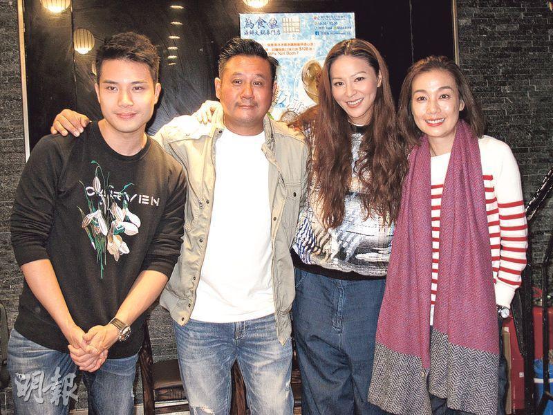 江美儀(右起)、滕麗名、麥長青及陳浚霆合作的節目《街市遊樂團》口碑好。(攝影/記者:鍾一虹)