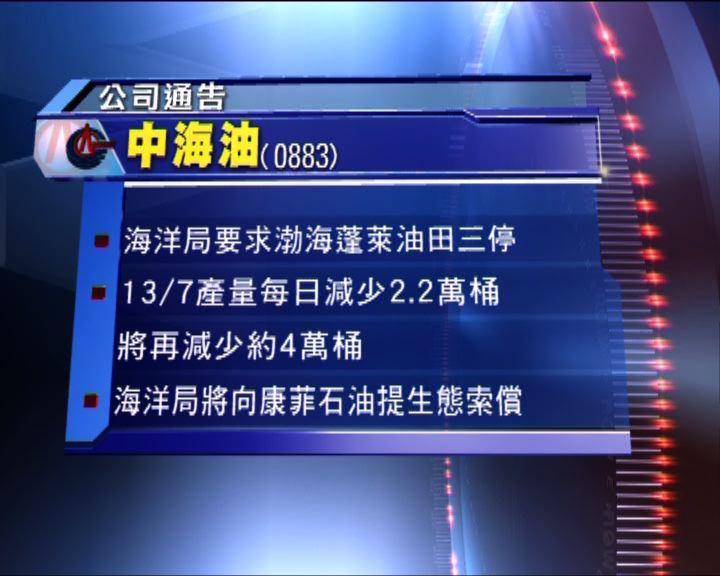 渤海蓬萊油田全面停產