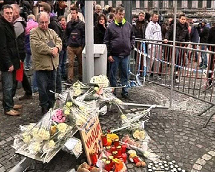 比國列日市民眾悼念襲擊死者