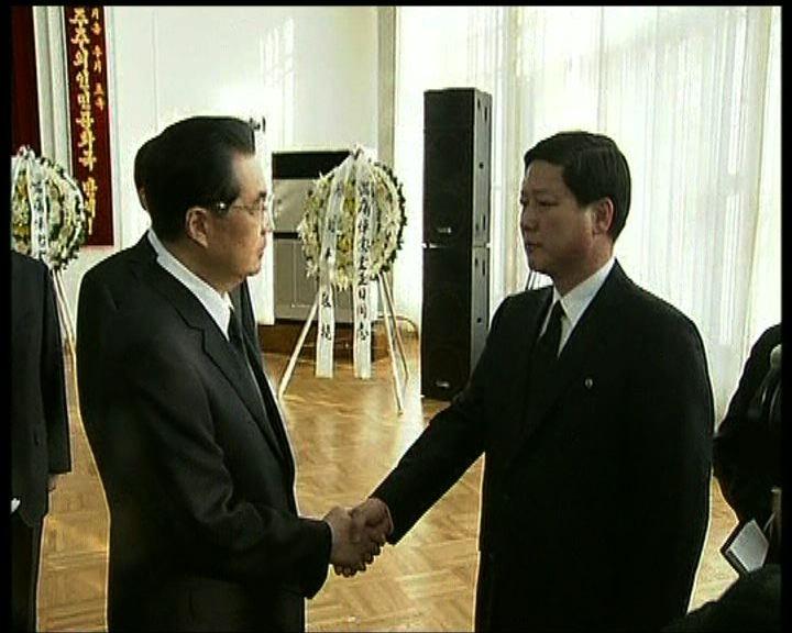 胡錦濤到北韓使館弔唁金正日