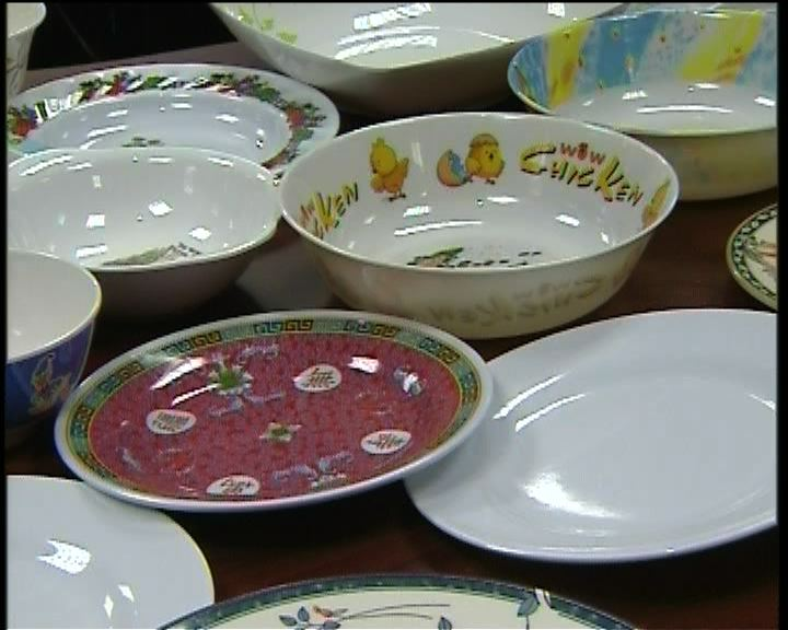 消委會驗出部分仿瓷餐具含甲醛或三聚氰胺