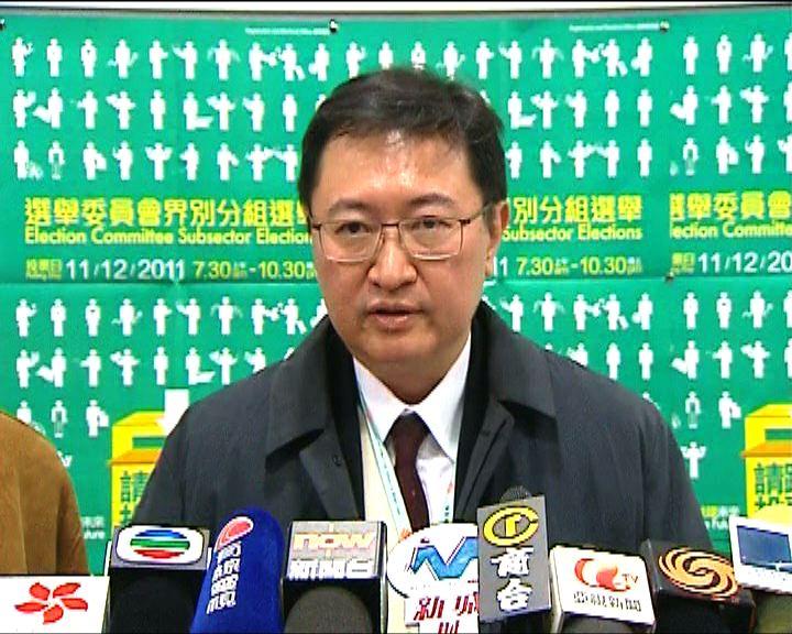 馮驊:暫收到16宗選舉投訴