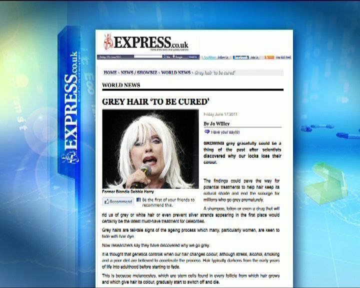 環球薈報:白頭髮有望可被治癒