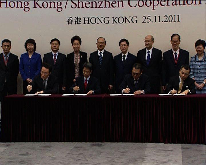 深港簽署四份合作協議