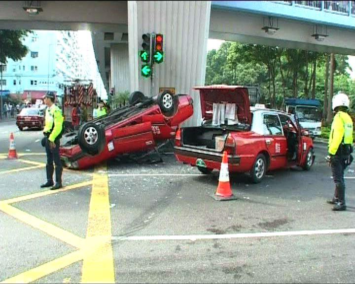 慈雲山旺角分別有交通意外