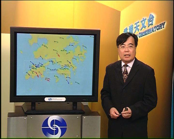 颱風納沙開始遠離本港