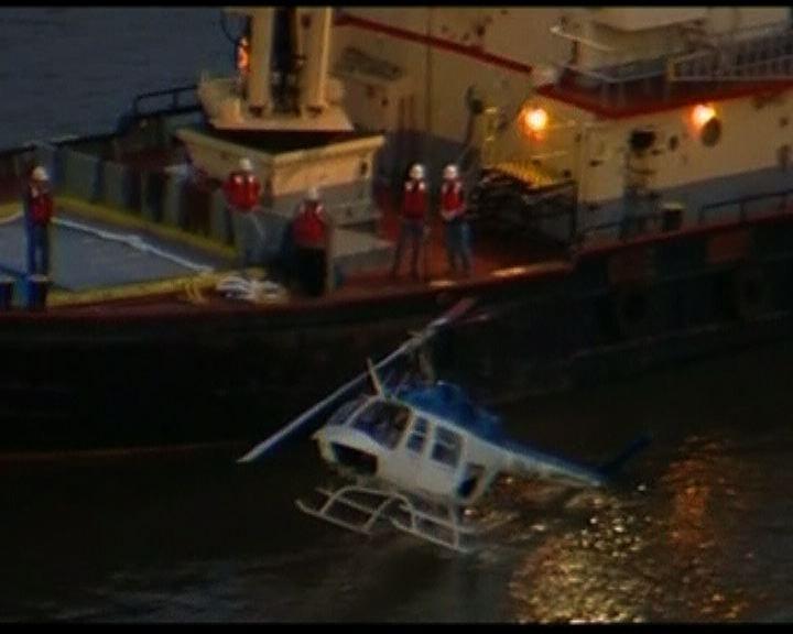 美國直升機墜河一死三傷