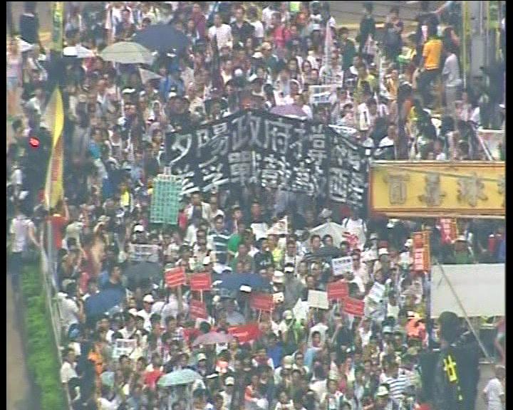 大批市民上街反對遞補方案