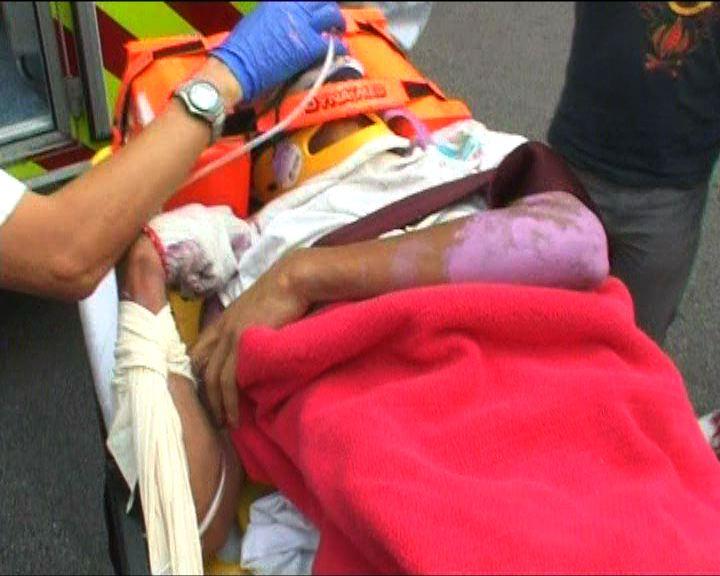將軍澳工人意外墮地受傷