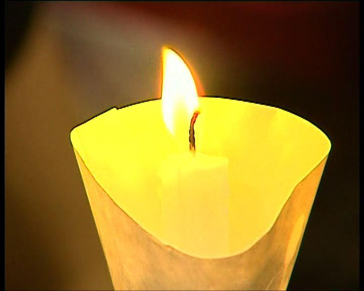 六四燭光晚會悼念六四死難者