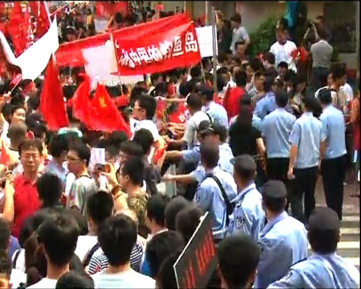 廣州拘至少11名反日示威滋事者