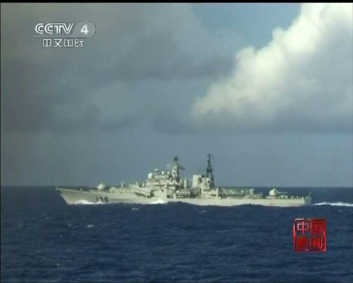 中國海軍艦艇到西太平洋訓練