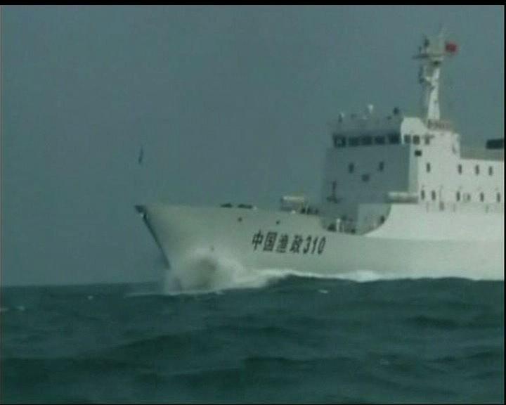漁政船難抗衡日本船艦