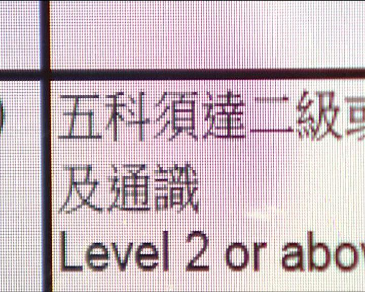文憑試考生重讀中六門檻高
