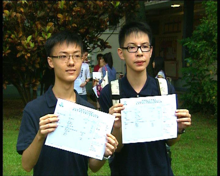 文憑試五名狀元兩名出自皇仁