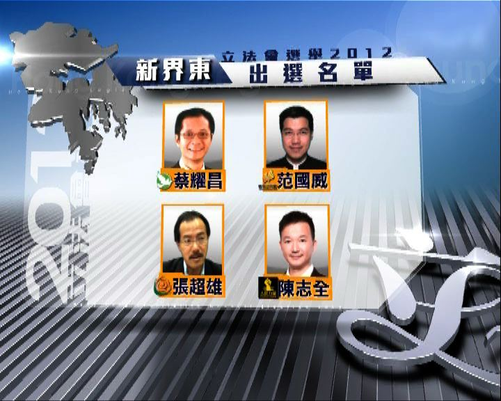 立會選舉提名結束新界東競爭最烈