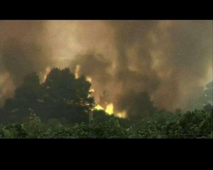 歐洲熱浪引發多宗山火