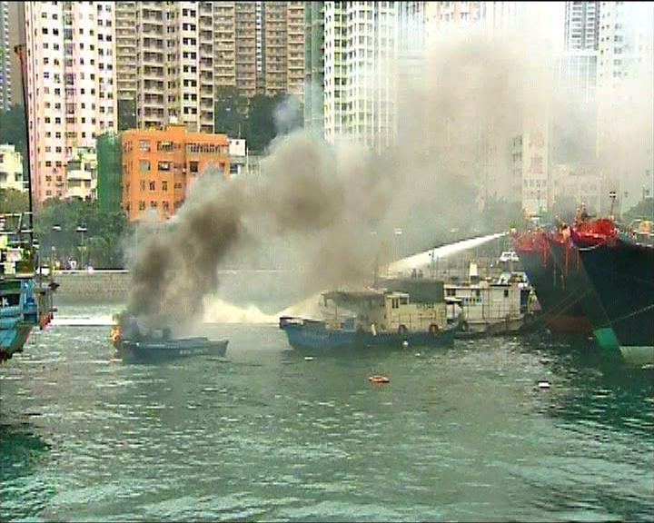 香港仔避風塘兩艘船起火沒有人傷