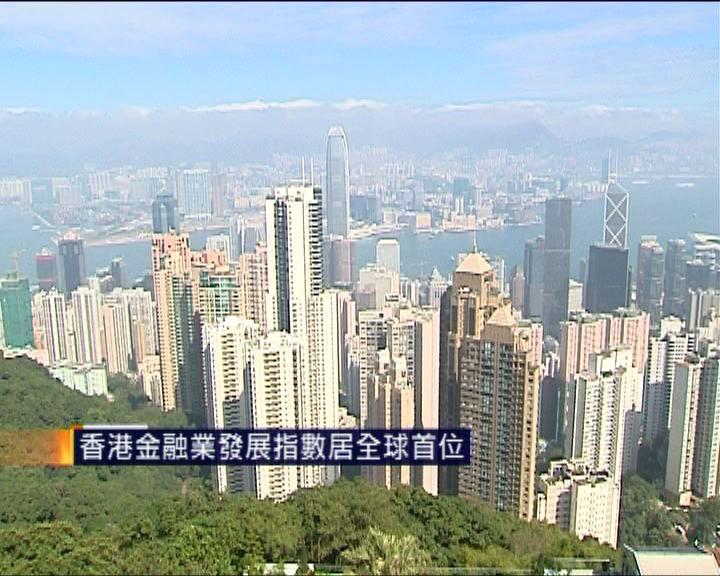 香港金融業發展指數居全球首位