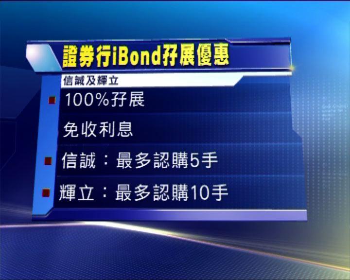 證券行推出多項認購iBond優惠