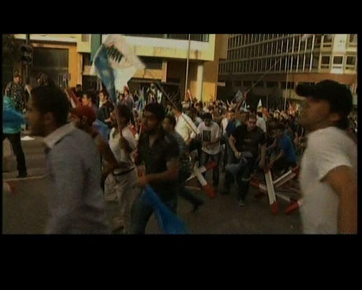 黎巴嫩民眾衝擊總理府