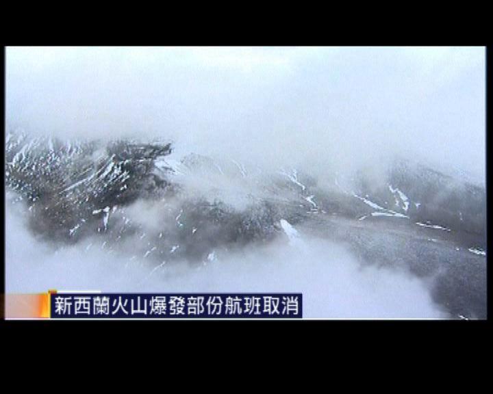 新西蘭火山爆發部份航班取消