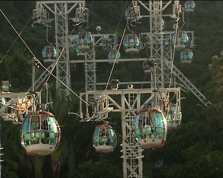 海洋公園纜車故障95人被困