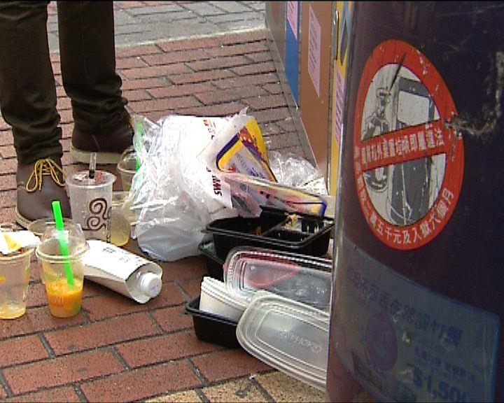 近一成回收品被弄污而要丟棄