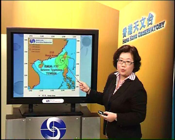 兩颱風互相影響天秤強度及速度有變數