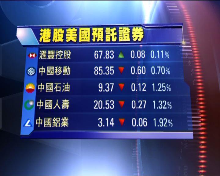 預託證券形式買賣港股造價普遍低