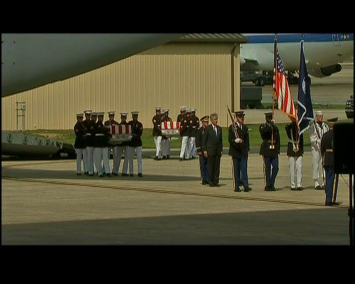 遇害利比亞大使遺體運回美國