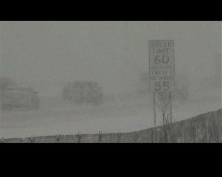 美國東北部大雪航班受阻