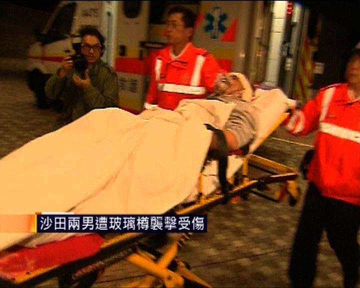 沙田兩男遭玻璃樽襲擊受傷