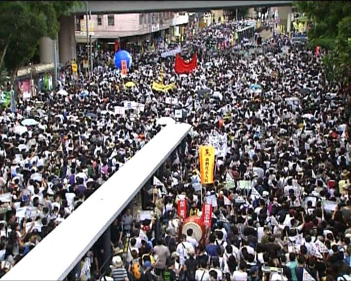 七一遊行警方同意加開行車線