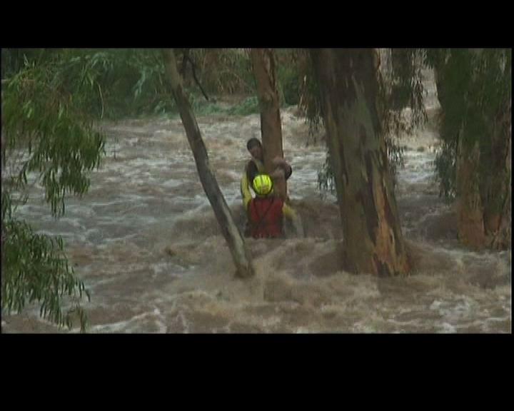 澳洲昆士蘭男童險被洪水沖走