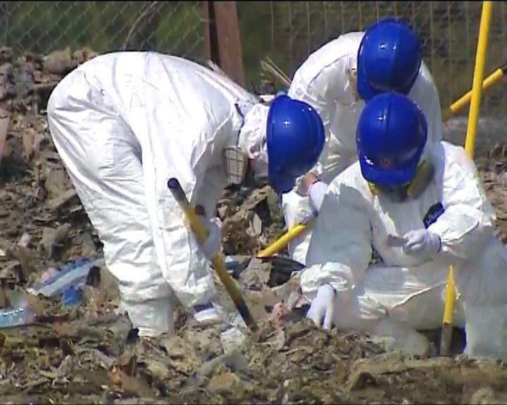 警方結束堆填區尋找女嬰屍體
