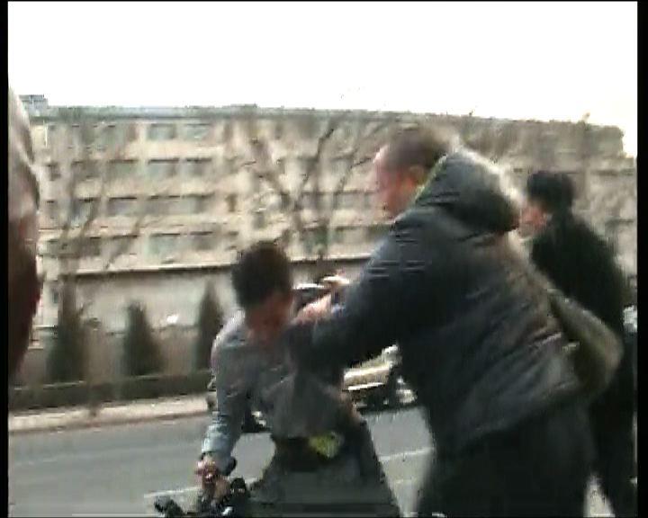 本港記者北京採訪楊匡訪劉霞時被毆