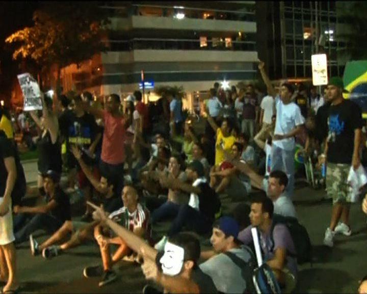 巴西反政府示威出現搶掠潮