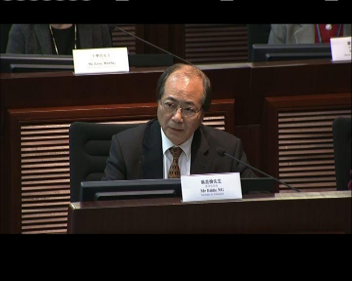 吳克儉透露已與浸大校長討論新建議